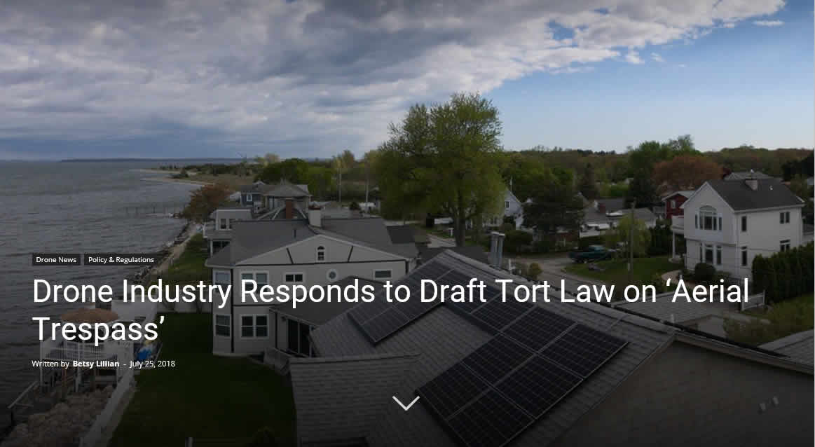 Drone Industry Responds to Draft Tort Law on Aerial Trespass